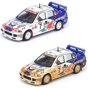 【予約受付中】(INNO MODELS)三菱 ランサー エボリューション III #7 Australia Rally 1996 ウェザリング塗装(9月発売)