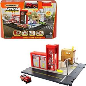 【販売中】(Matchbox)出動!消防署 プレイセット(消防車ミニカー1台付)(4/24発売)