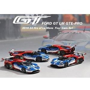 【予約受付中】(MINI GT)フォード GT LMGTE PRO ル・マン24時間 2016 フォードチップガナッシチーム 4台セット(11月発売)