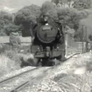 昭和49年 旧国鉄田川線 油須原付近 蒸気機関車 クンロク 9600形
