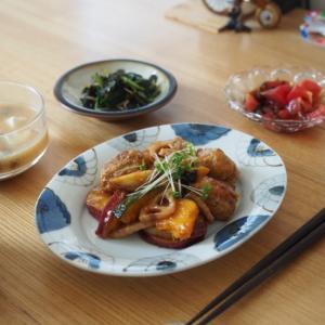 肉団子と根菜の甘酢あんごはん
