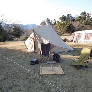 今年の初キャンプは娘2人との父子キャンプ @かみいしづ緑の村公園