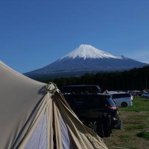 GWの富士山、豪雨の初日を乗り越えてから @富士見の丘オートキャンプ場 その2