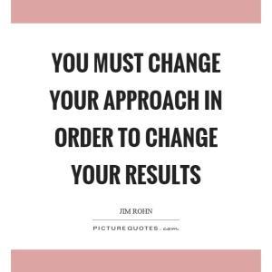 結果を変えたければアプローチを変える