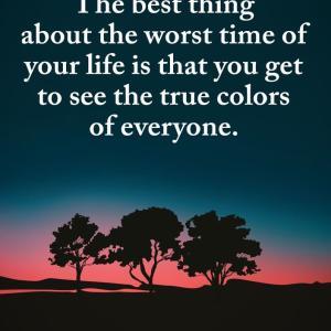 人生のどん底にいる時、周りの人の本質が分かる