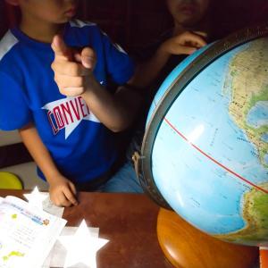 ◇地球儀で地理と天体を理解する☆日常生活から社会や理科を学習することが大切