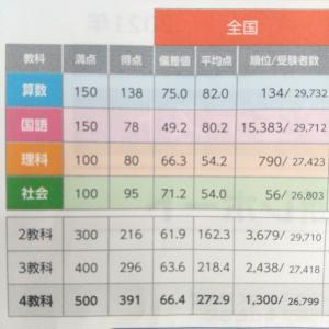 ◇全国統一小学生テスト 小学4年生 6月結果☆伸びしろを確認