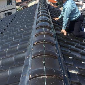 雨漏りの瓦屋根点検お見積もりの巻