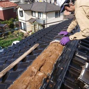 屋根瓦の棟修繕工事〜スタートの巻