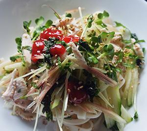 サラダチキン梅味麺