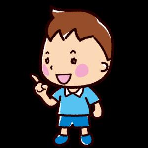 話すイラスト(会話・男の子)(4カット)
