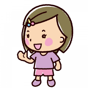 話すイラスト(会話・女の子2)(4カット)