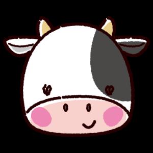 牛のアイコンのイラスト(3カット)
