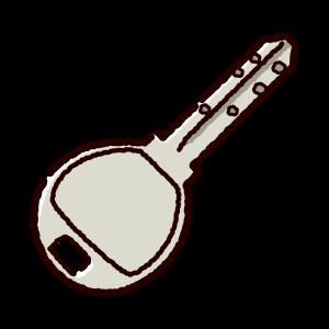 鍵のイラスト(ディンプルキー)(2カット)