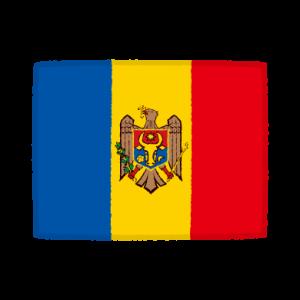 国旗のイラスト(モルドバ共和国)(2カット)
