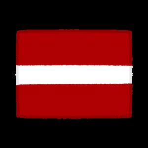 国旗のイラスト(ラトビア共和国)(2カット)