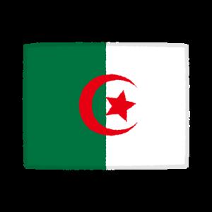 国旗のイラスト(アルジェリア民主人民共和国)(2カット)