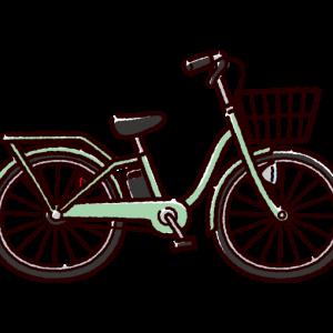 自転車のイラスト(電動アシスト)(4カラー)