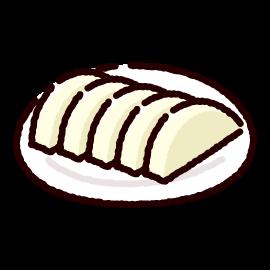 漬物のイラスト(大根漬け)(2カット)