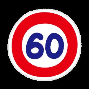 道路標識のイラスト(最高速度標識)(6カット)