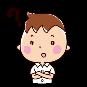 疑問のイラスト(男子学生)(2カット)