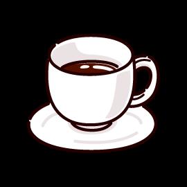 ホットコーヒーのイラスト