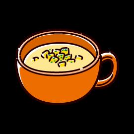 コーンスープのイラスト(2カット)