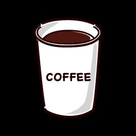 紙カップコーヒーのイラスト