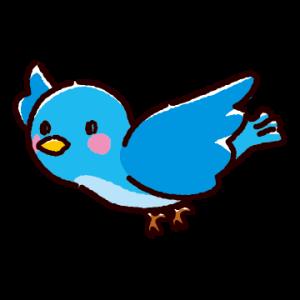 青い鳥のイラスト(3カット)