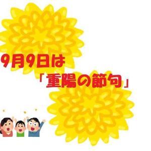 【重陽の節句】知ってましたか?9月9日は菊を楽しむ「重陽の節句」です