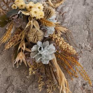 秋の新作ー実りの穂のスワッグ〜アーティフィシャル