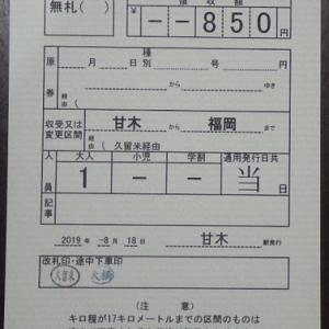 【国内旅行系】 意外に直線 甘木鉄道(福岡県)※西鉄甘木駅も行ったよ