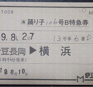 【鉄道車両系】 乗り得列車 修善寺⇔三島の特急「踊り子」と三島駅のぐにゃ(静岡県・伊豆箱根鉄道)