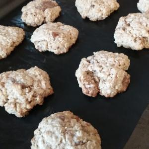 レシピ☆全粒粉とオートミールのチョコナッツヘルシークッキー