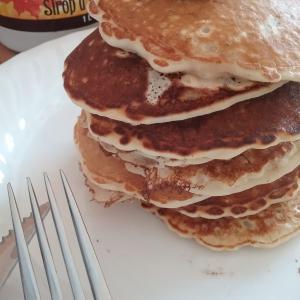 レシピ☆離乳食にも!ふわふわに改良版、食物繊維たっぷりオートミールパンケーキ