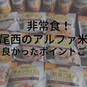非常食【尾西のアルファ米買ってみた】感想