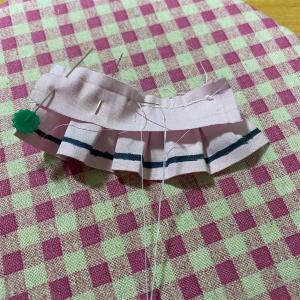 スカート縫いました。
