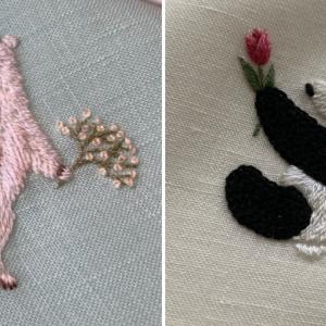 【オーダーメイド】パンダ刺繍 & しろくま刺繍