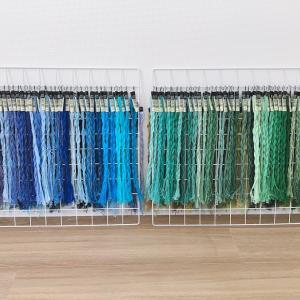 刺繍糸全500色の収納方法!クリップに挟んで吊るして