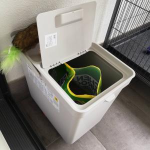 IKEAのHALLBARを猫砂の収納ケースにしたらすごく使いやすかった。