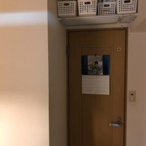 【収納】廊下の突っ張り棚の収納