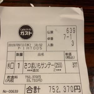 ガストで75万円分食べたらしいよ笑笑