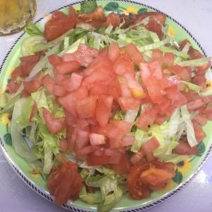 自家製ミニトマトで作ったタコライス