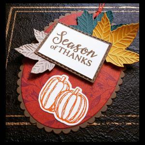 プチギフトに秋色のタグ
