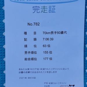 第16回戸田・彩湖ウルトラマラソン に参加