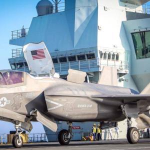 英海軍、米海兵隊F-35Bを収容した空母「クイーン・エリザベス」が初出撃