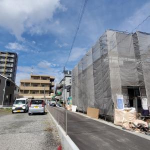 東谷山3丁目アーネストワンの新築一戸建て新築状況(8月24日現在)