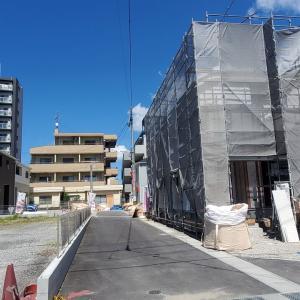 東谷山3丁目アーネストワンの新築一戸建て新築状況(8月29日現在)