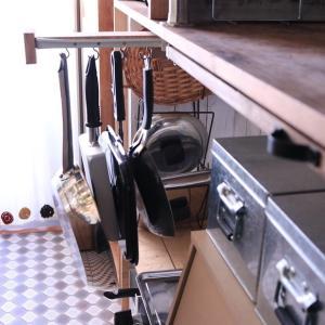 【DIY】激狭キッチンにフライパン収納