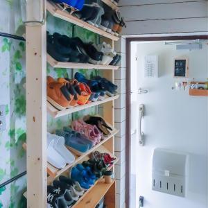 奥行わずか20cm!!に大容量な靴箱DIY!と玄関収納